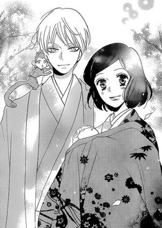 Kamisama hijimemashita (Tomoe & Nanami after 10 years with their baby return to Mikage shrine)