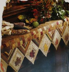 Autumn Leaves Mantel Cover Quilted Pattern