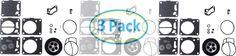 Super BN SBN Kawasaki Polaris Seadoo Tigershark Yamaha Mikuni TRIPLE kit carb rebuild kit 3PACK
