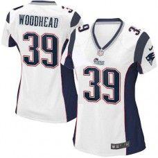 Women's White NIKE Elite    New England Patriots #39 Danny Woodhead   NFL Jersey