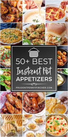 50 Best Instant Pot Appetizers Get your party started off right with these easy instant pot appetizers. From meatballs to wings, there are plenty of delicious party foods to choose from. Instant Pot Pressure Cooker, Pressure Cooker Recipes, Slow Cooker, Appetizers For Party, Appetizer Recipes, Crock Pot Appetizers, Pots, Pressure Cooking Today, Instant Pot Dinner Recipes