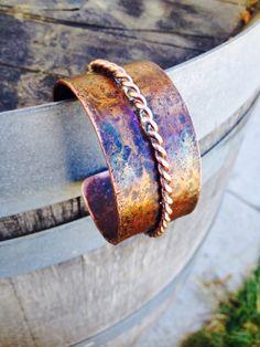 Salvaged copper cuff