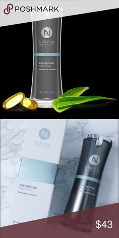 🇱🇷SALE Nerium Age-Defying Night Cream SEALED BOX This clinically tested age-fighting product is powered by our exclusive NeriumAD® Formula. Age-Defying Night Cream contains the most concentrated, powerful form of our proprietary NAE-8® extract. It is designed to adhere to skin for maximum delivery of key ingredients. Apply at night when skin is in its rest-and-repair cycle. Nerium Makeup