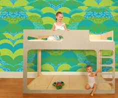A Day In The Park Wallpaper from Pop and Lolli will add a burst of color to the room. #roomdecor