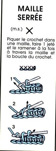Häkeln Maille serrée Apprendre le crochet Laine learn to knit. Stitch Crochet, Crochet 101, Crochet Wool, Crochet For Beginners, Learn To Crochet, Crochet Crafts, Crochet Patterns, Crochet Ideas, Crochet Projects