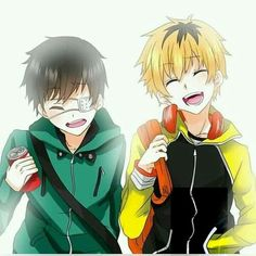 Tokyo ghoul kaneki and hide ^~^ so adorable