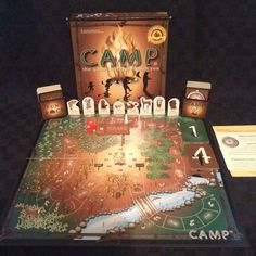 2006 Education Outdoors Camp Board Game Fire Friends Camping Woods Fun Trees #EducationOutdoors
