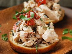 Sundried Tomato, Bacon, Chicken Salad Crostini