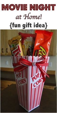 Movie Night at Home! {fun gift idea} ~ from TheFrugalGirls.com #ideas #gifts #thefrugalgirls