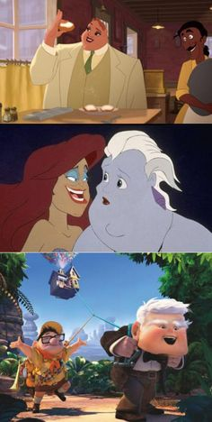 disney face swap...  You never notice how weird a character's face is until you see it on another character.