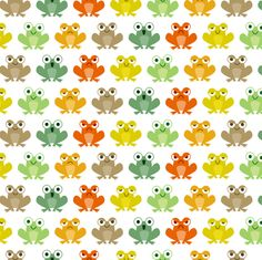 Cute little frogs fabric by petitspixels on Spoonflower - custom fabric