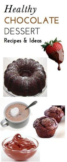 5 Super Easy, Delicious, Lower-Calorie Chocolate Dessert Recipes We Love -- yum!!!