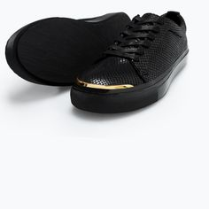 Image 4 of SNEAKERS WITH GOLD METAL IN THE TOE from Zara