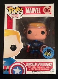 Unmasked Captain America Funko Pop *Comikaze Exclusive* REALLY REALLY WANT!!!!!