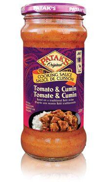 Tomato & Cumin Cooking Sauce #Recipe #India #IndianFood #FoodPorn #Pataks #PataksCanada #MixinaLittleIndia #Indian #TonightsDinner #Food #Curry
