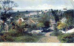 Old Postcard of Village of Grand Pre, Kings County, Nova Scotia