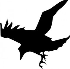 (clip art crow) The Birds, Hitchcock