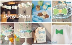 buttons and bowties theme shower