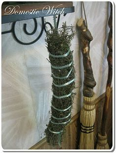 How to make an herb stick and a besom