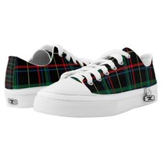 Trendy Multicolored Plaid Low-Top Sneakers - red gifts color style cyo diy personalize unique