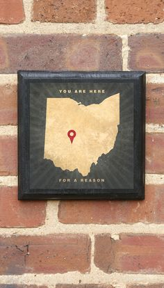 Ohio - You are here for a reason Vintage Style Plaque/Sign Decorative & Custom Color