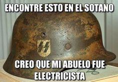 Creo que mi abuelo era electricista