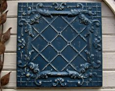 Antique Tin Ceiling Tile. FRAMED 2x2 antique by DriveInService