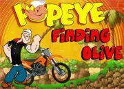 Popeye Finding Olive Race   Juegos de coches y Motos - jugar Carros online
