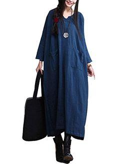 Minibee Women's Raglan Sleeve long Style Pocket Dress Blue Minibee http://www.amazon.com/dp/B015O299LE/ref=cm_sw_r_pi_dp_Mw9awb0RT97WW
