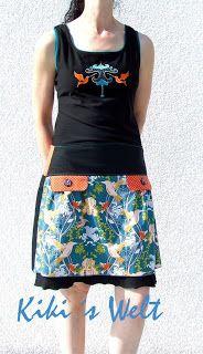 Schnittmuster von Ki-ba-doo Mayla als Unterkleid und MaYana als Überrock