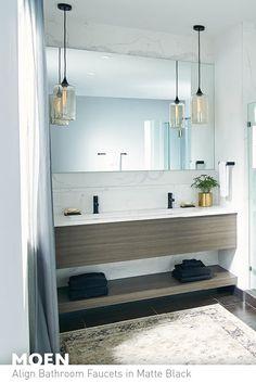 matte black high arc bathroom faucet