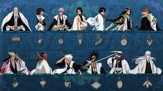 Bleach Captains Full by Sanctusseraph on DeviantArt Bleach Manga, Bleach Drawing, Bleach Renji, Rita Image, Bleach Figures, Bleach Tattoo, Kenpachi Zaraki, Bleach Characters, Anime Characters