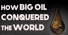 A brilliant piece of investigative journalism revealed the immense extent to which the oil industry has been shaping and ruling the world as we know it. http://articles.mercola.com/sites/articles/archive/2016/01/16/how-oil-industry-conquered-world.aspx