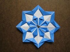 Origami Modular Diamond Star Folding Instructions. You can connect several together to create a star ball also.