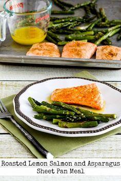 Roasted Lemon Salmon and Asparagus Sheet Pan Food