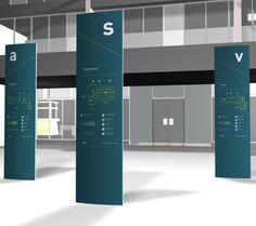 Cliente: Trabajo FADU Trabajo: diseño de señalética Aeropuerto Sauce Viejo. Montaje 3D.