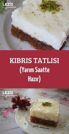 Cypriot Dessert (Ready in Half an Hour) - My Delicious Food - Cake Recipes Delicious Cake Recipes, Dessert Recipes, Yummy Food, Dessert Food, Fruit Cake Loaf, New Recipes, Crockpot Recipes, Bread Recipes, Cake Fillings