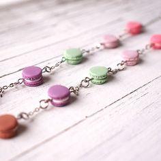 Cute Mini Macaroon Bracelet Handmade Polymer Clay by ElfiHandmade