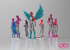 The Elementals:  Girls' Action Figures With A Realistic Breast-To-Hip Ratio, coming soon (there's a Kickstarter campaign)!