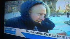 While reporting on the Russian economy, Steve Rosenberg and his BBC crew found themselves making the headlines in Novosibirsk.