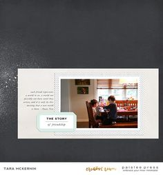 Paislee Press creative team member Tara McKernin created this layout using More or Less and Road Trip