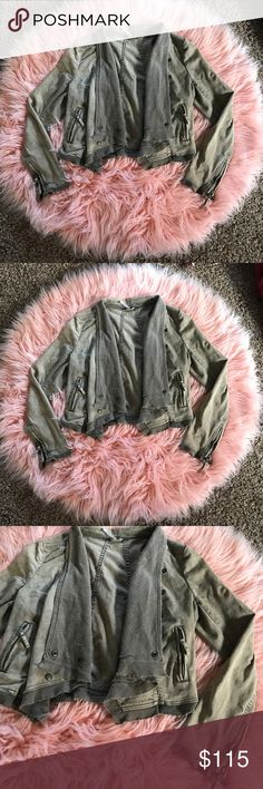 Free People denim derailed jacket Small mark on shoulder shown- not noticeable.  ⚡️NO trades  ⚡️open to ALL offers!  ⚡️ bundle for MAJOR discounts!  ⚡️feel free to ask any questions ⚡️ I will not respond to offers in the comments, please use the offer button for all offers.  ⚡️Please only ask for model photos if you are very interested!  ⚡️All sales are final and all offers are binding.  ⚡️ If I miss your comment, please comment again! Free People Jackets & Coats
