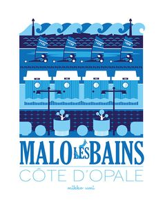 Dunkerque Malo-les-Bains - Mikko Umi #tourisme #poster #affiche #vintage #côteopale #npdc #dunkerque #malo #travel