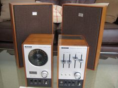 "sony st-80 | Photo of original Sony system with speakers and ""TA-88"" amplifier"