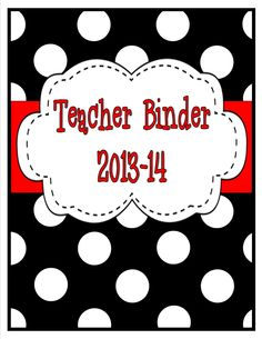 Black and Red Polka Dot Teacher Binder. Over 40 pages of teacher resources to get you organized! $ School Fun, Back To School, School Ideas, Spanish Classroom, Classroom Ideas, Teacher Binder Organization, 6th Grade Reading, Class Decoration, Lesson Plan Templates