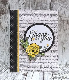 Here's another card using the supplies in the August Card Kit from Simon Says Stamp. I have always loved text/script as an element, and ad. Card Kit, I Card, Thank You Gifts, Thank You Cards, Sending Hugs, Scrapbooking, Unique Cards, Penny Black, Card Maker