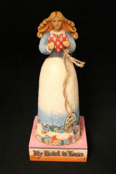 Jim Shore Heartwood My Heart Is Yours Girl Lady Figure Figurine RARE Retired | eBay