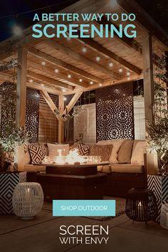 Back Garden Design, Modern Garden Design, Backyard Garden Design, Patio Design, Outdoor Screens, Outdoor Pergola, Outdoor Landscaping, Gazebo, Outdoor Garden Rooms