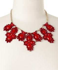 Another great find on #zulily! Red Gypsy Bib Necklace by Jewelry Nut #zulilyfinds