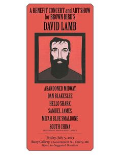 Dave Lamb Benefit.. David Lamb, Brown Bird, Benefit, Hands
